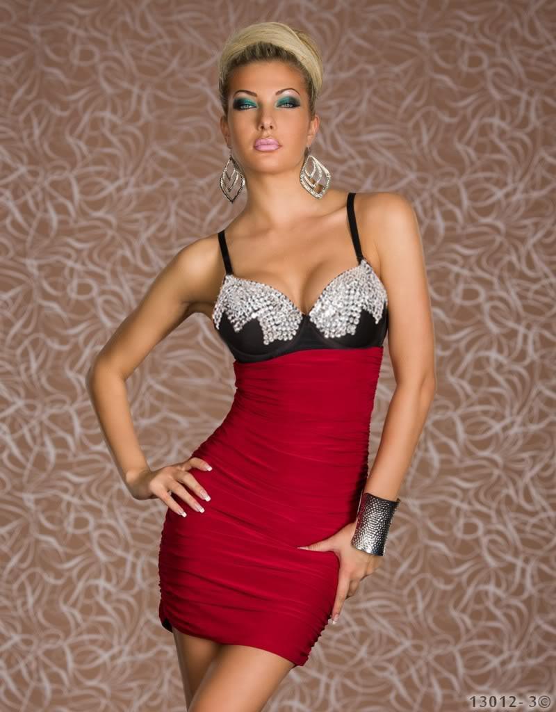 Пикантные Для женщин Летний Стиль Мини Короткие чудо модное платье с шипами на груди Bodycon Платье заклепки Клубная одежда