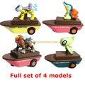 Корабль типа тянуть назад автомобиль Tomy Пикачу игрушки куклы модель игрушки фигурки funko поп аниме ПВХ 4 шт.