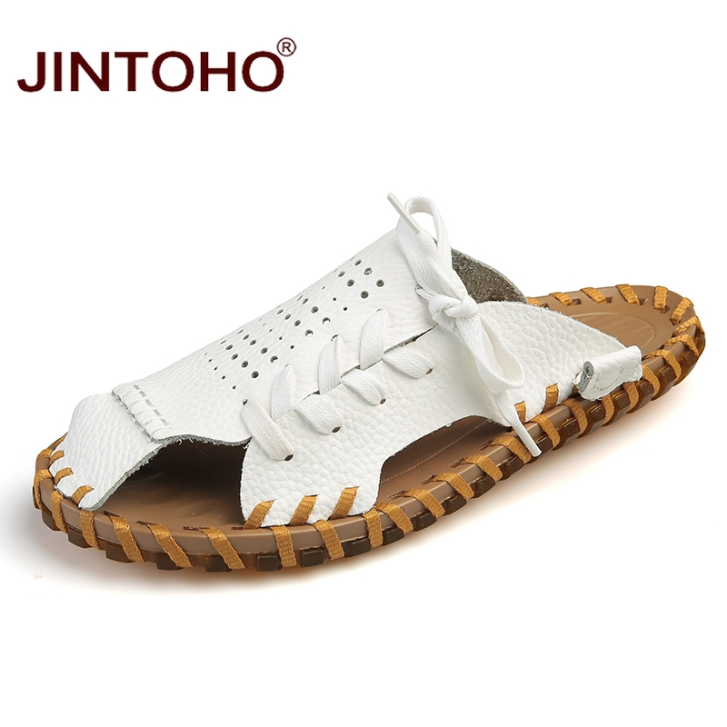 in spiaggia uomo nuove uomo bianco Se pantofole massaggio moda Jintoho 2018 vera pantofola baia zong estate perizoma Se scarpe maschio Hei Se pelle 6XxqfpEw