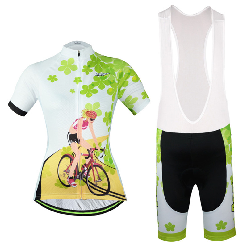 365shop Store 2016 Cycling Jersey Short Sleeve Clothing Ropa Bike Bicycle Women  Clover Size S-XXXL