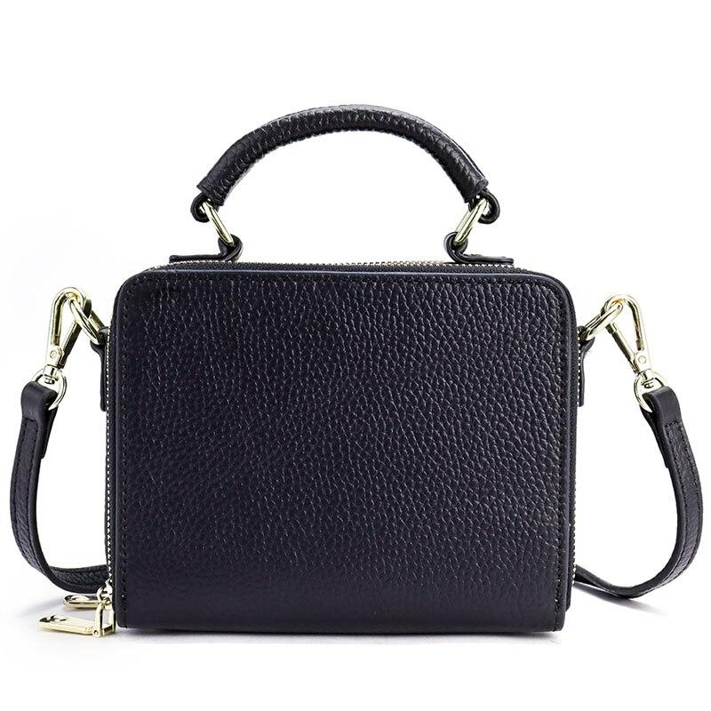 Men Bag Shoulder Crossbody Bags Women Genuine Leather Casual Male Briefcases Laptop Bags Zipper Design Messenger Bag Handbag New