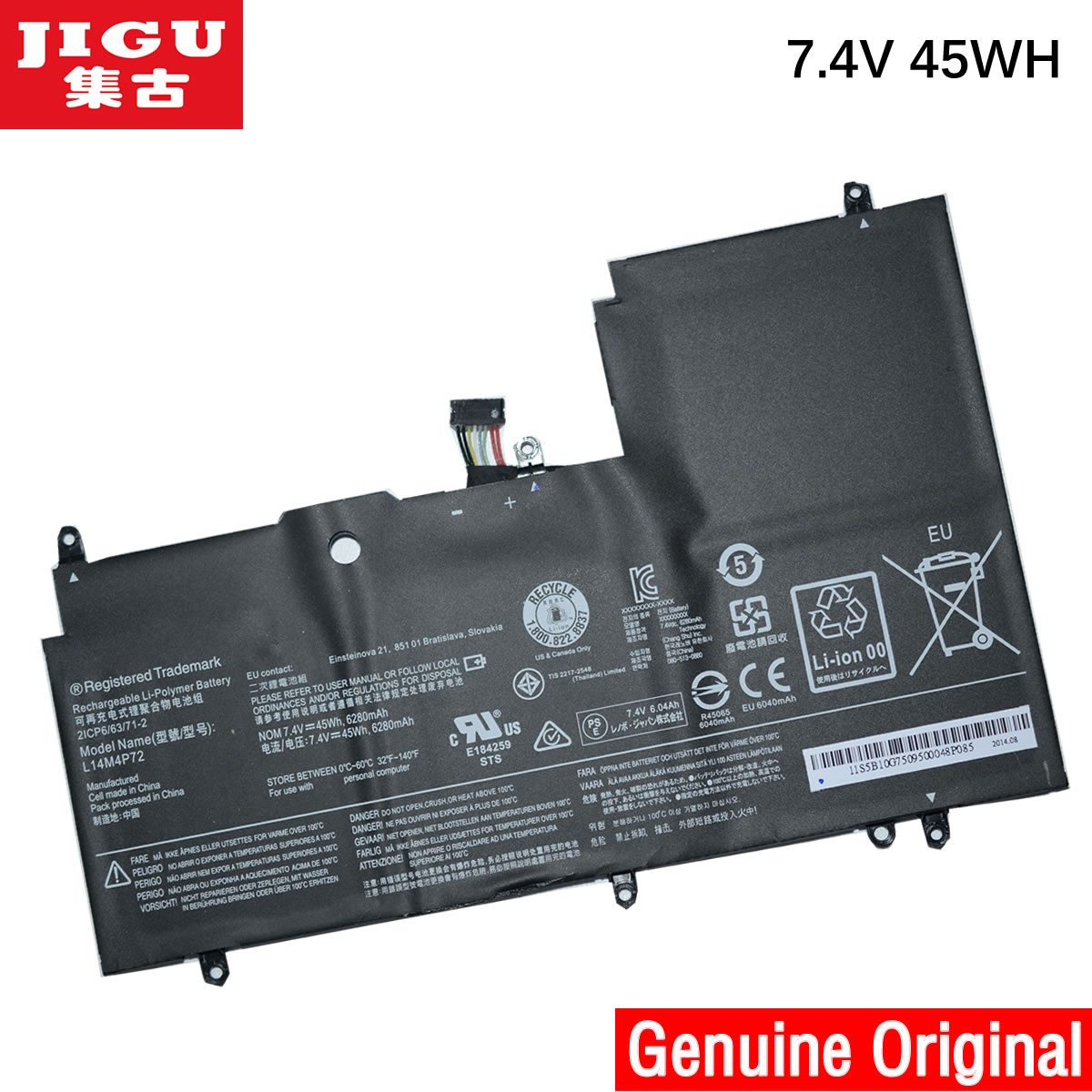 JIGU laptop battery L14M4P72 L14S4P72 FOR LENOVO YOGA 3 3 14 Yoga 700 700 14ISK Yoga3 14-IFI Yoga3 14-ISE original for lenovo for yoga 3 14 yoga3 14 3 14 hdd hard drive cable connector btuu1 hdd ffc cable nbx0001fw10 test