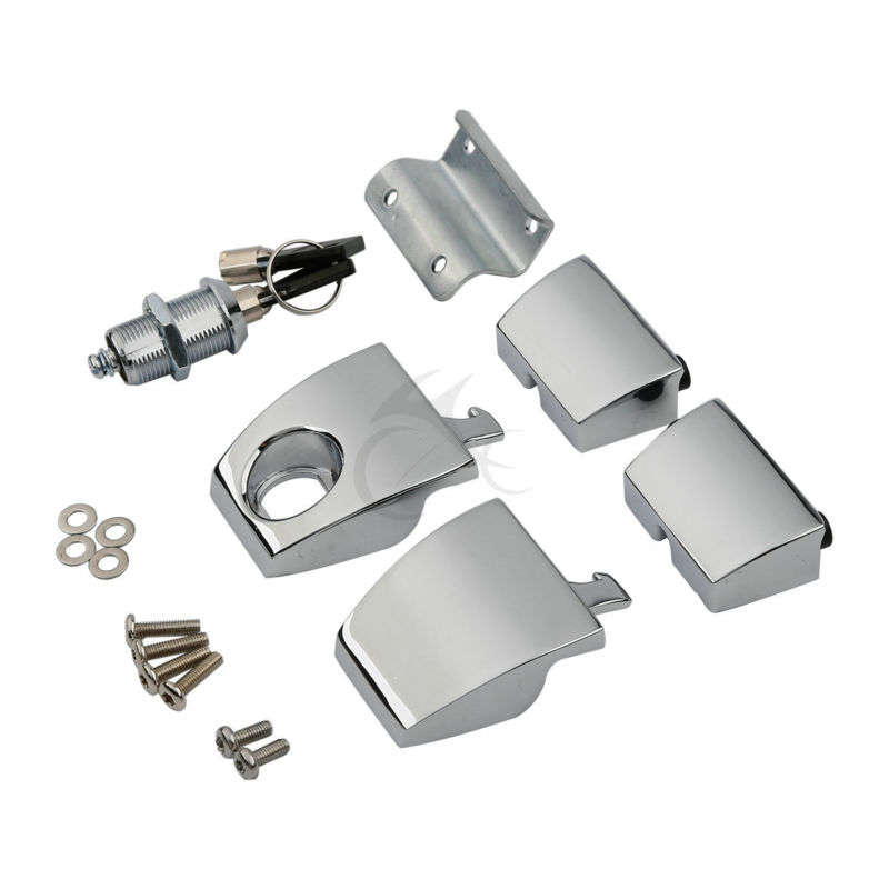 King Tour Pack Pak Latches For Harley Davidson Touring 88-13 FLHT FLHR FLHX Electra Road Street Glide 1988-2013 2 up tour pak mounting luggage rack for harley touring flhr flht flhx fltr 14 16