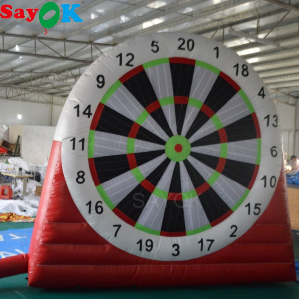 Sayok 3m/4m Giant Inflatable Dart Board Game Inflatable Football Soccer Darts Board Single Sides for Outdoor Fun Playing
