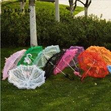 9fec46088e70 Da Sposa romantico Ombrello Colorato Battenburg Del Fiore Del Merletto  Ombrello Parasole Ombrello Vintage Per Gli Accessori Da S..