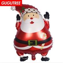 купить Decorate 64x43cm Santa Claus Kriss Kringle foil balloons wedding event christmas halloween festival birthday party HY-212 дешево