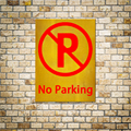 2016 1pc No Parking Reflective Stickers Commercial Painting Wall Decoration Warning Words 15x20cm For Schools Hotels The Mall