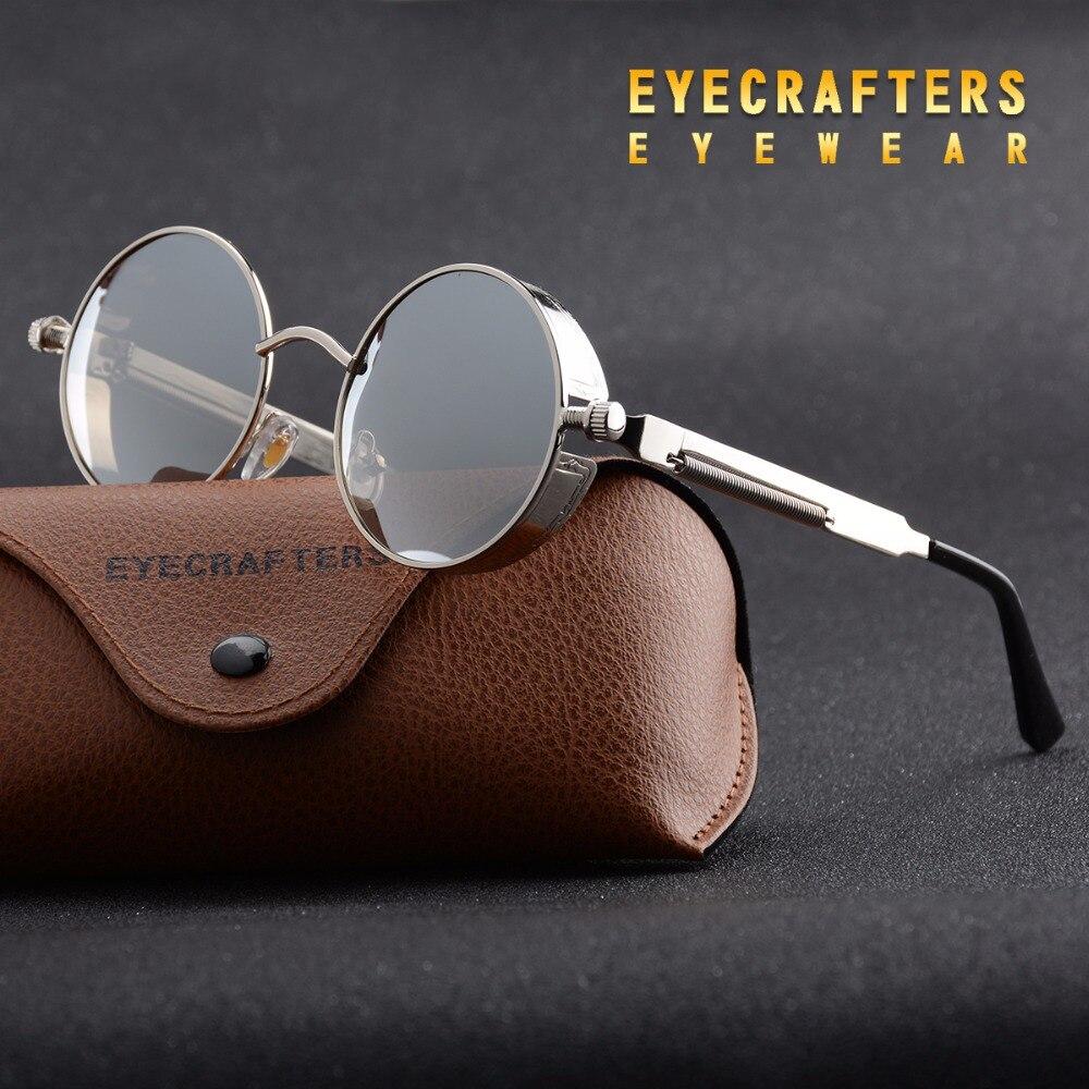 Silver Metal Polarized font b Sunglasses b font Gothic Steampunk font b Sunglasses b font Mens