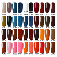 LEMOOC Gel Nail Polish 229 Pure Colors 8ml Soak Off Manicure UV Gel Varnish DIY Nail Art Lacquer Decoration for Nails