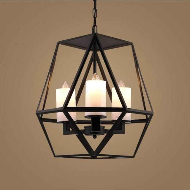 New retro candle chandeliers restaurant iron living room led lamps new retro candle chandeliers restaurant iron living room led lamps loft black chandelier e14 lustre lighting aloadofball Image collections