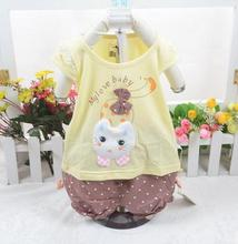 2017 children s wear baby girl short sleeve suit baby cotton summer infant clothing set XC1173