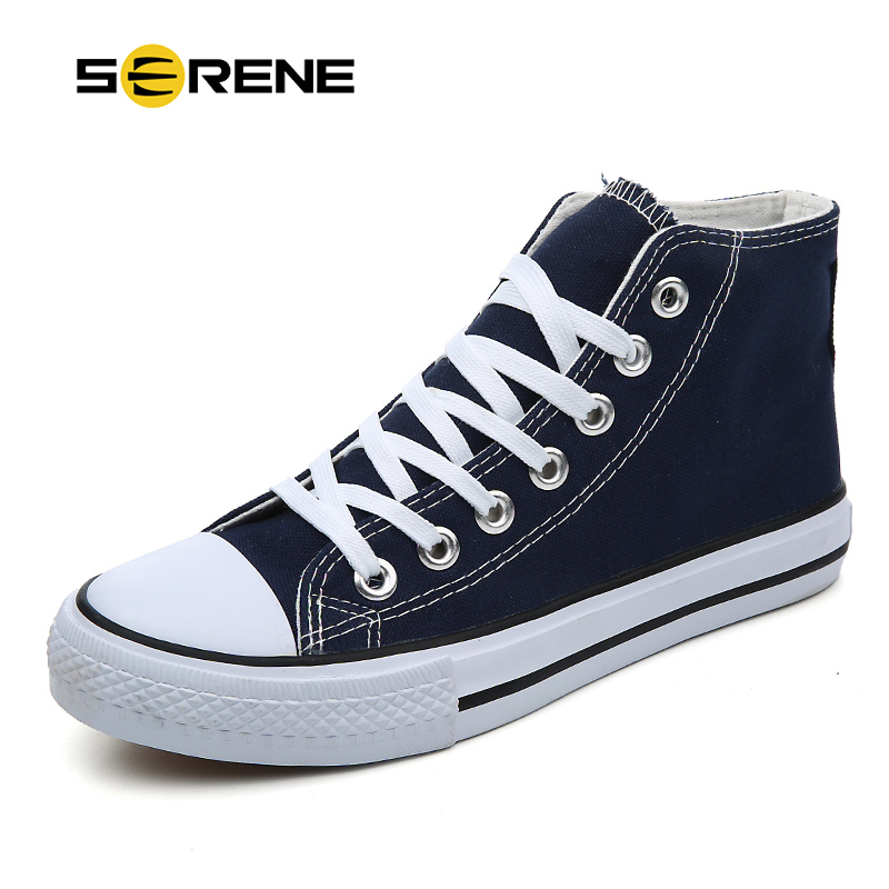 SERENE Brand New Men's Boots Male Classic Star Boot Lovers Casual Canvas Bot Man High Top Sneakers Mens Ankle Shoes Couple Shoe