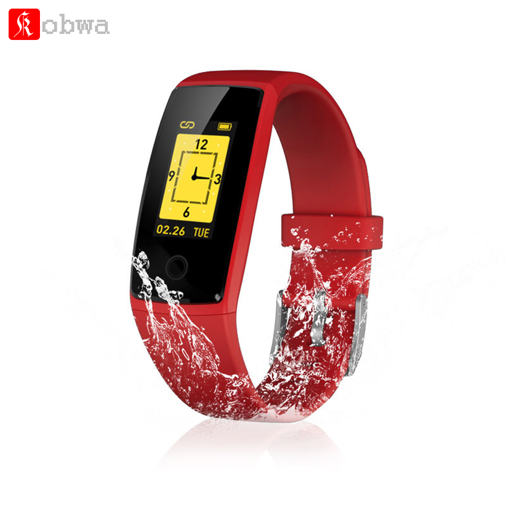 Kobwa V10 Blood Pressure Monitor Smart Bracelet Heart Rate Monitor Fitness Watch Countdown Stopwatch Clock with Running Mode