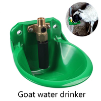 Sheep Goat Copper Valve Italy Automatic Nipple Drinker Water Bowl Sheep Pig Water Drinker Animals Drinking Poultry Farm Tool