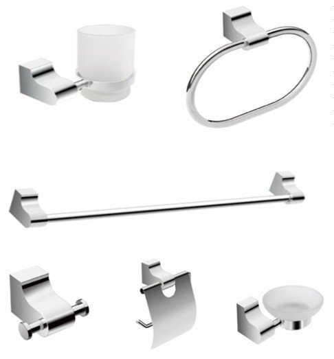 Free Shipping Bathroom Products Bathroom Accessories Bath Hardware Set Six Pcs Set  Robe Hook Towel Ring CY-250/6 Zinc Chrome