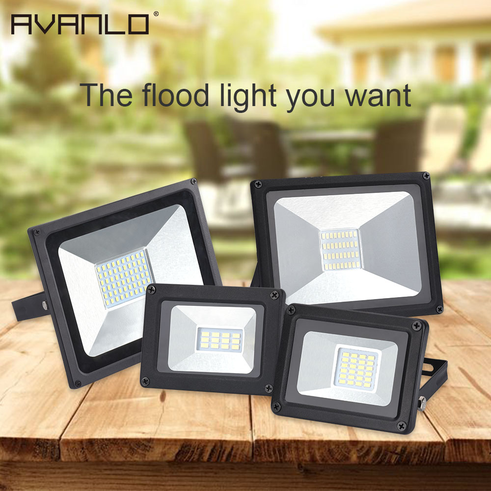 Led Flood Light 30w 100w Projector Reflector Wall Lamp Waterproof 220v Led Chip Floodlight Spotlight Outdoor Lighting Lights & Lighting Floodlights