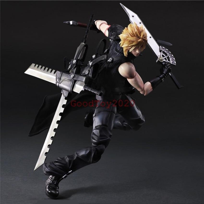 ФОТО Final Fantasy VII Advent Children Cloud Strife PVC Action Figure Play Arts Kai Model Statue 10'' PAK001017