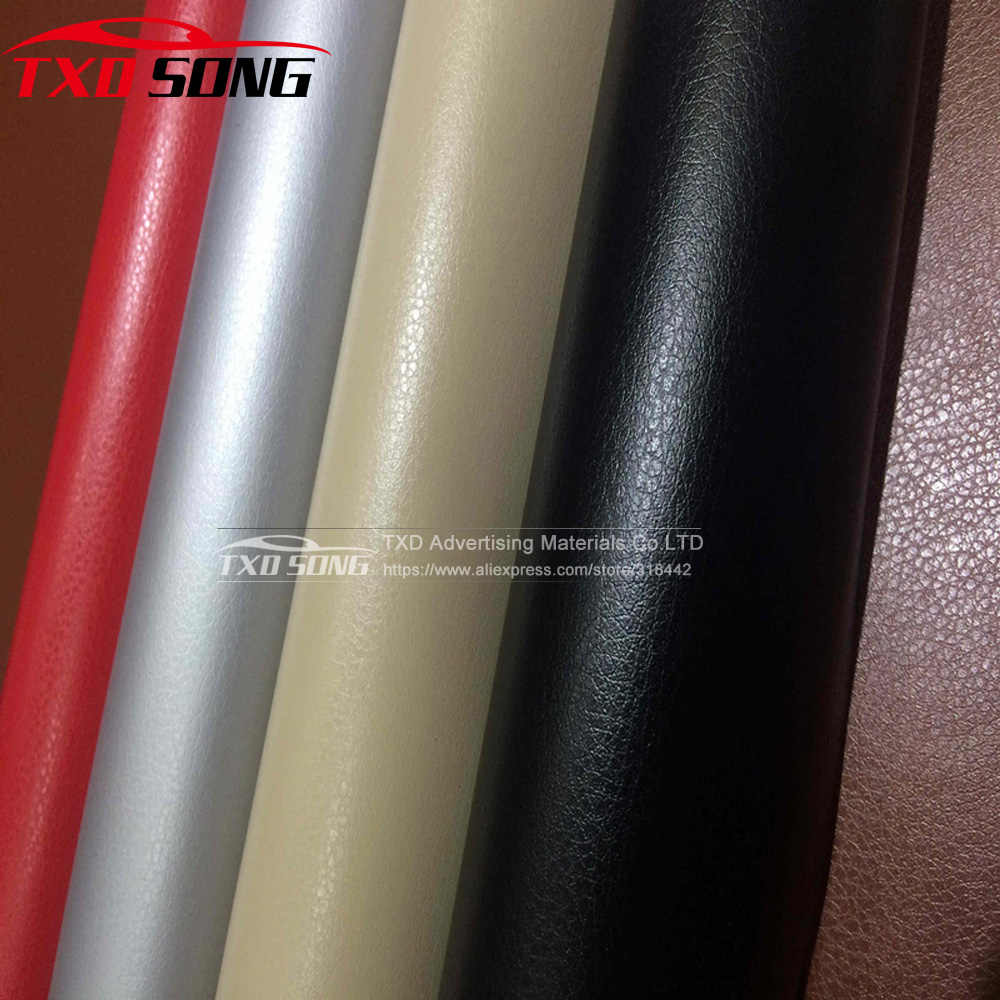 Lederen patroon PVC zelfklevend vinyl wrap film sticker voor auto lichaam interne decoratie vinyl wrap met 6 Maten voor keuze