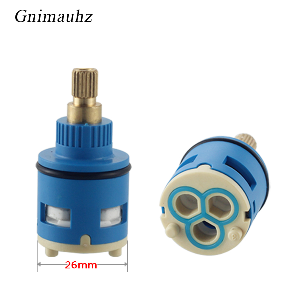 26MM Shower Faucet Spool Third Gear Ceramic Spool,Shower Mixer Faucet 3 Position Switching Tap Valve Three-Hole Diversion Spool