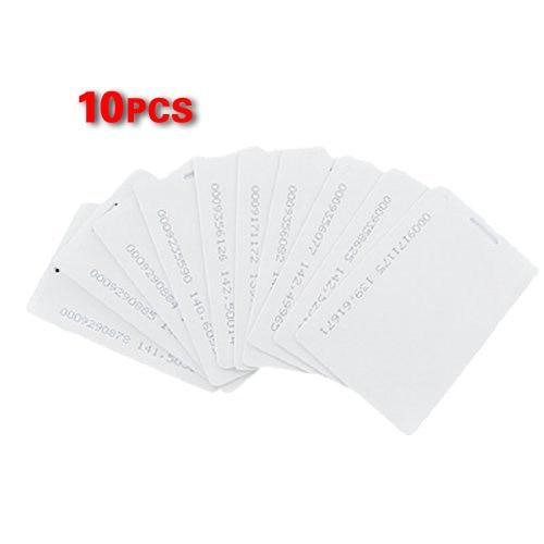 2 Packs 10 Pcs White 125Khz 1.9mm RFID Access Proximity Card