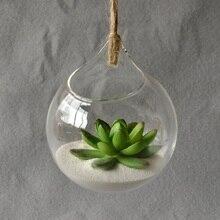 Подвесная стеклянная ваза, подвесная Террариум, стеклянная ваза, гидропонный цветок, для помещений, офиса, домашнего декора, украшение для дома, подвесная ваза