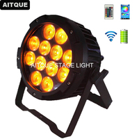 10pcs Stage Light Outdoor LED Par Can Light IP65 12x15w WIFI rgbwa uv 6IN1 Par Wash Battery Power wireless uplighting