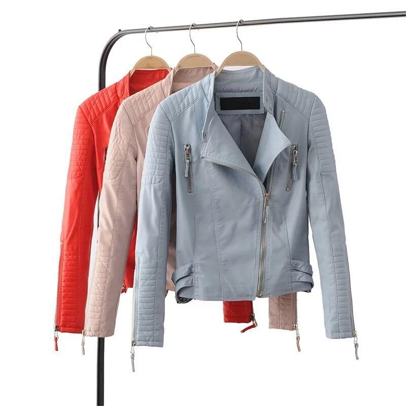 Women Autumn & Winter Leather Jackets Female Thick Warm Fashion Style Basic Jacket Coat Ukraine Black Outerwear & Coats