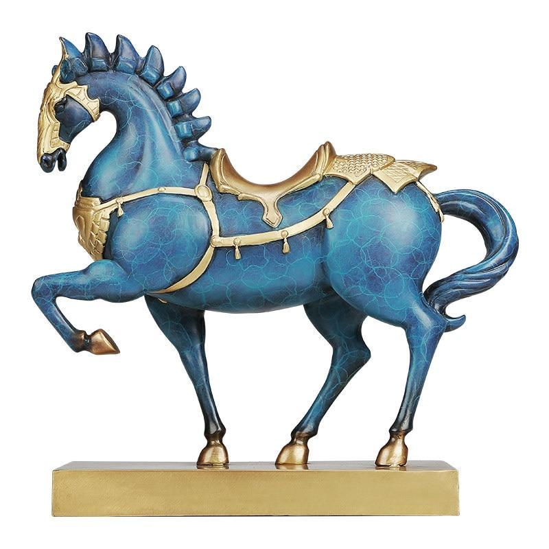 Cheval de cuivre décoration artisanat chinois antique cheval de guerre chanceux Feng Shui vin armoire décoration