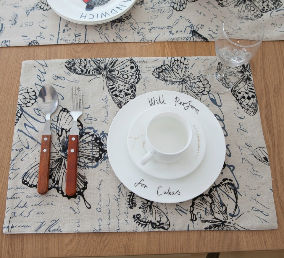Rosa Nimoa Tovaglietta 7 Colori Forma Rettangolare Tovaglia in Feltro Runner Tovagliette Tappetini Decorazioni per la casa