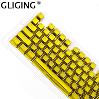 104 Key OEM Height E Element Plating Cool Key Cap Personality Mechanical Keyboard Key caps For Cherry Switch