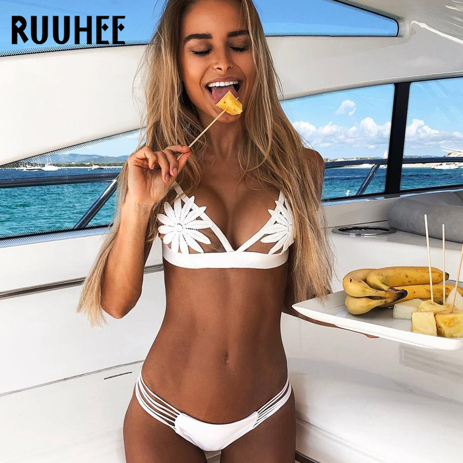 RUUHEE Bikini Swimwear Women Swimsuit Sexy Brazilian Bikini Set Bathing Suit Sexy Chiffon Female Beachwear Padded 2019 Swimsuit