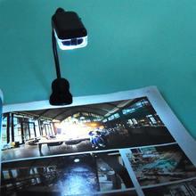 Мини светодиодная лампа для чтения с зажимом портативная энергосберегающая