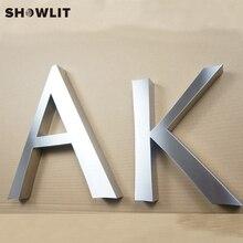 Изготовленные на заказ матовые металлические 3D буквы для украшения офиса