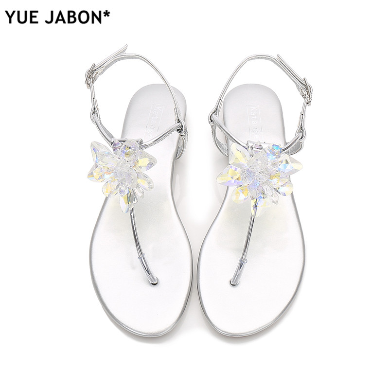 Detail Feedback Questions about 2018 shoes woman sandals women Rhinestones  Chains Flat Sandals plus size Thong Crystal Flip Flops sandals gladiator  sandals ... 6f8e861c5755