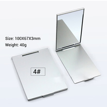 Ultra-thin Makeup Mirror Vanity Cosmetic 5 Sizes Make Up Pocket Silver Rectangle Foldable Compact Folding Mirrors