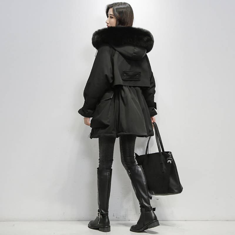 2019-Winter-Women-Real-Natural--Fur-Collar-Hooded-Down-Loose-Coat-Parka-Female-Thick-Warm (5)