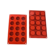 Cylinder round silicone cake mould hand soap ice cube pudding Mold DIY Craft Soap Making Silicone Molds
