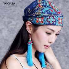 Весенне-осенняя винтажная Повседневная Кепка Skullies для женщин, Регулируемая Кепка в стиле хип-хоп, китайская хлопковая Кепка с вышивкой, женские шапки