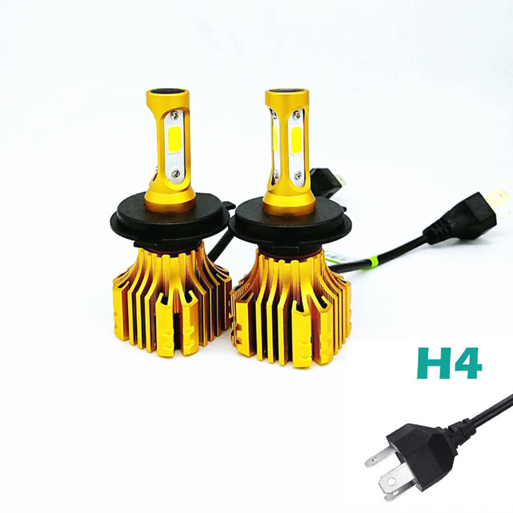 LDDCZENGHUITEC H4 Hi Lo Beam H7 H11 9005 9006 Car LED Headlight Bulbs 72W 8000LM COB Automobile Headlamp Front Lights 6500K 12V
