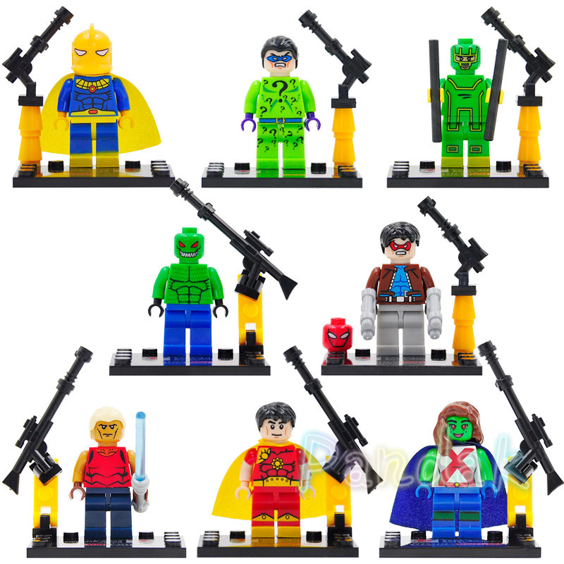 Single Sale Snake Eyes Jason Todd The Croc Riddler Bane Aqualad Kick Ass Martian Hyperion Building Blocks Super Hero Bricks Toys