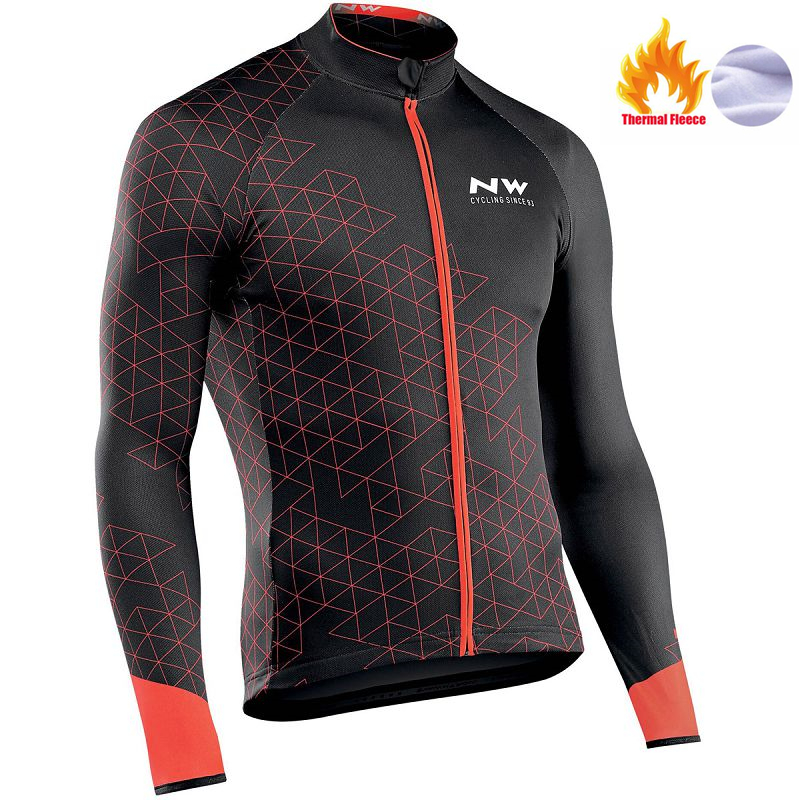 Cycling Sportswear Jersey-Clothing Mountain-Bike Long-Sleeve Fleece Winter NW Men