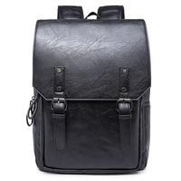 New Designer Men Backpacks Pu Leather School Bag For Teenagers Black Women Laptop Backpack Travel Bolsas