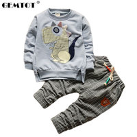 GEMTOT 2018 Boy Clothes Fashion Baby Boy   Clothing     Sets   Kid Full Clothes + Trousers Suit for Children Boys Kid Baby   Clothing     Set