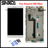 Sinbeda AAA Quality 6 44 For Xiaomi MI Max LCD Screen Display Touch Digitizer Assembly Frame