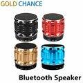 Portáteis Speakers Mini Bluetooth Sem Fio De Aço do Metal Inteligente Mãos Livres Orador Suporte Cartão SD Para O Telefone Móvel