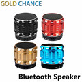 Portable Mini Bluetooth Speakers Metal Steel Wireless Smart Hands Free Speaker Support SD Card For Mobile Phone