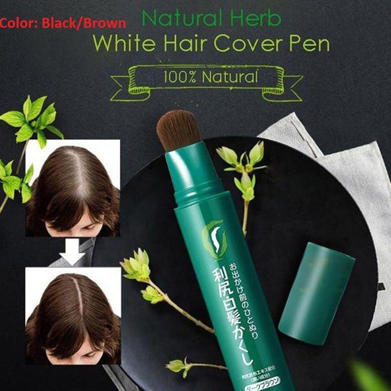 חדש הגעה טבעי עשב לבן שיער כיסוי עט לבן ארוך לטווח שחור חום חד פעמי עט HJL2018