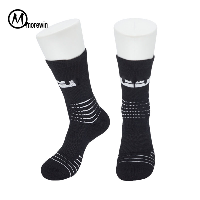 Professional Men Elite Basketball Socks Long Cotton Sports Socks High Helmet Towel Bottom Thicker Soccer Socks Cycling Socks