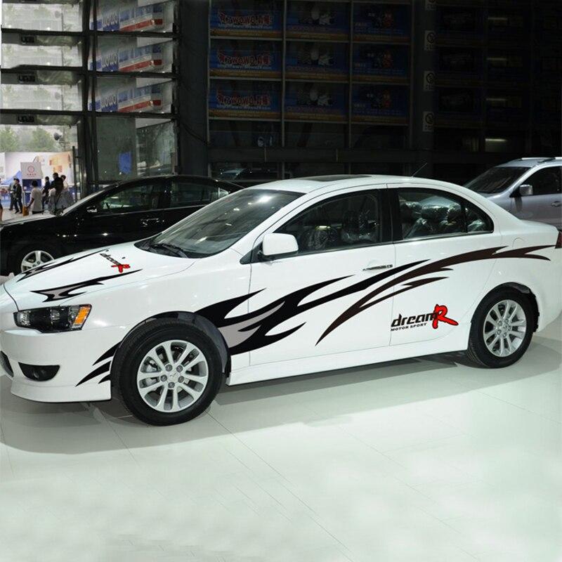 Dream R mode bricolage auto décor autocollant pour/vw/bmw e46/toyota/ford, voiture style ensemble entier autocollants et décalcomanies couverture découpée
