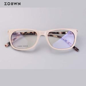 Image 5 - แฟชั่นคุณภาพสูงกรอบแว่นตาคอมพิวเตอร์ Prescription สายตาสั้นแว่นตาแว่นตาแว่นตาสีกากีรอบแว่นตา cat eye